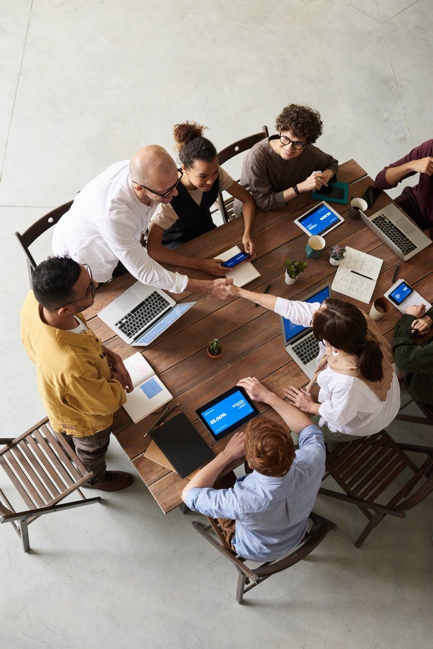 Gestaltung und Meeting