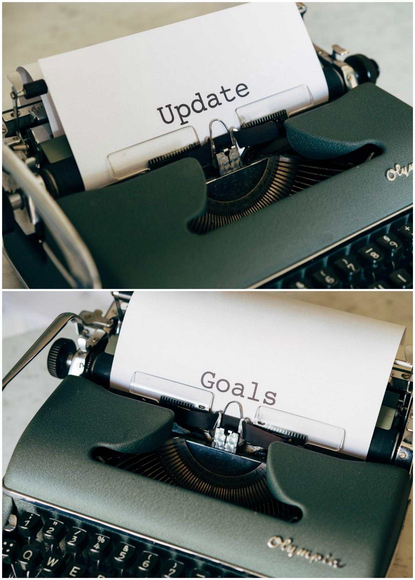 Update & Goals aus der Schreibmaschine